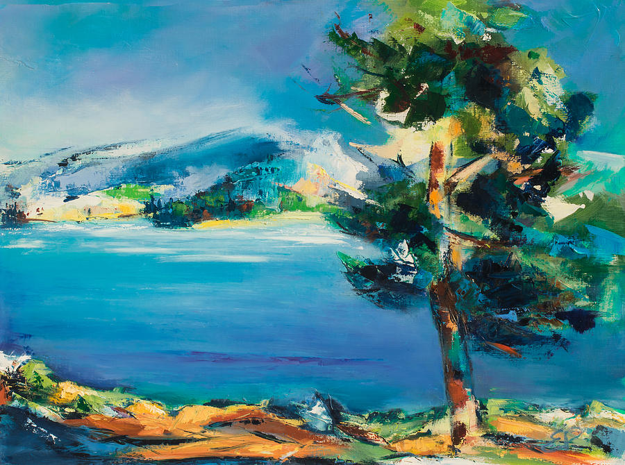 By The Lake Painting