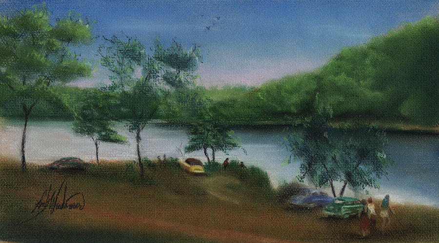 By The Lake Pastel  - By The Lake Fine Art Print
