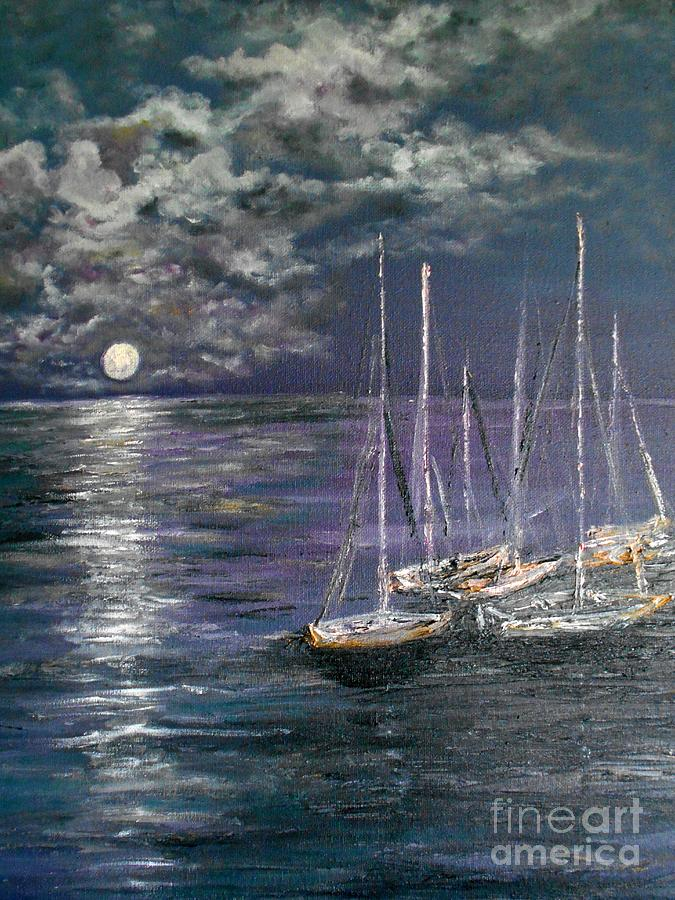 By The Light Of The Silvery Moon Painting  - By The Light Of The Silvery Moon Fine Art Print