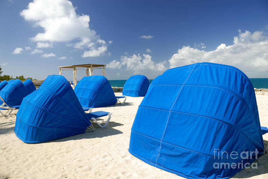 Cabanas On The Beach Photograph