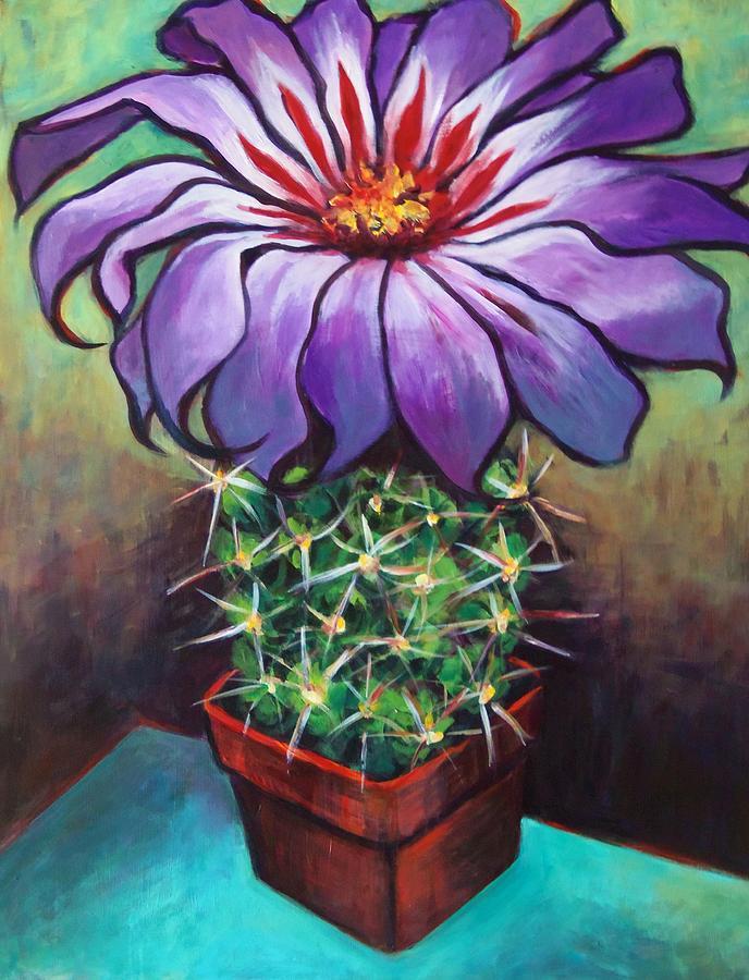 Cactus flower painting by susan santiago for Cactus santiago