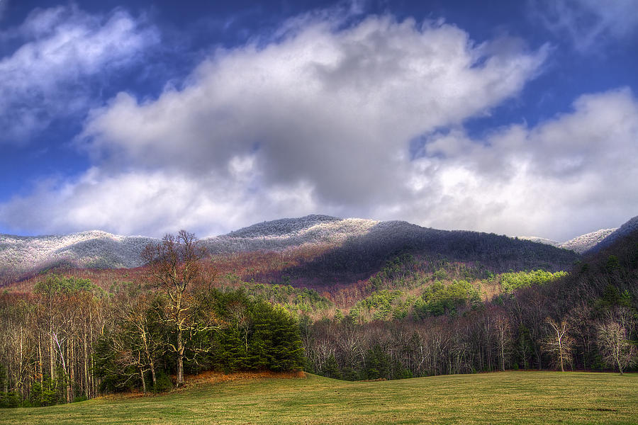 Cades Cove First Dusting Of Snow Photograph  - Cades Cove First Dusting Of Snow Fine Art Print