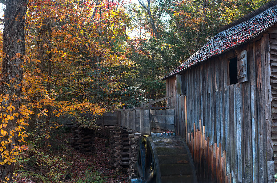 Cades Photograph - Cades Cove Mill by Steve Gadomski