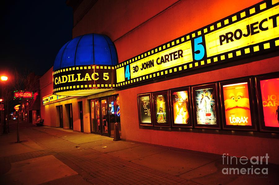 Cadillac 5 Movie Theater In Cadillac Michigan Photograph