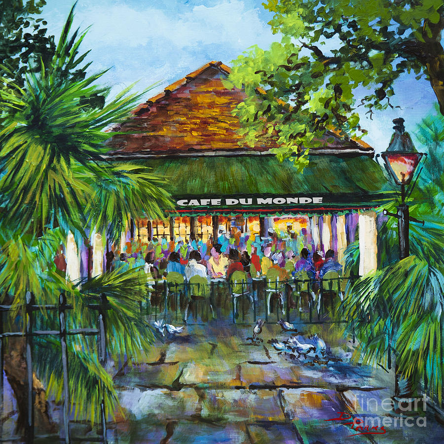 Cafe Du Monde Morning Painting  - Cafe Du Monde Morning Fine Art Print