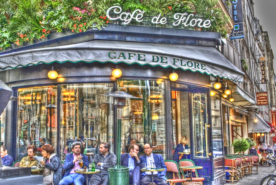 Cafe Flore In Summer Photograph  - Cafe Flore In Summer Fine Art Print