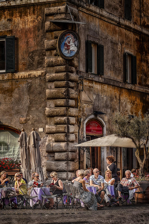 Adult Photograph - Cafe Roma by Erik Brede
