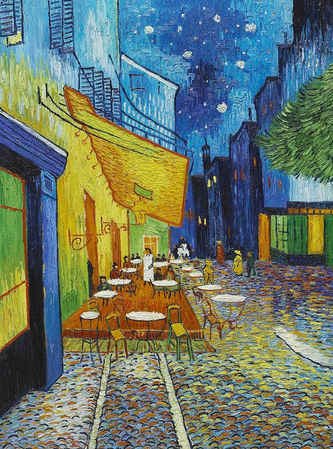 Cafe Terrace At Night Digital Art  - Cafe Terrace At Night Fine Art Print