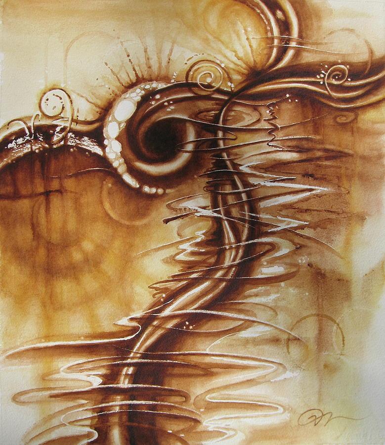 Caffeine Painting - Caffeine by Tracy Male