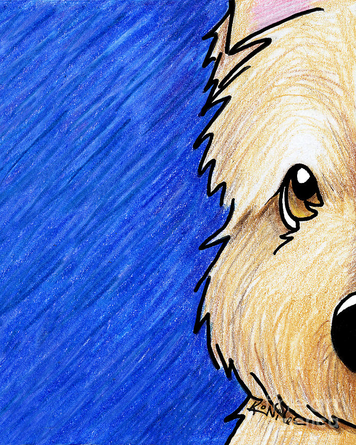 Cairn Terrier Painting - Cairn Terrier Up Close by Kim Niles