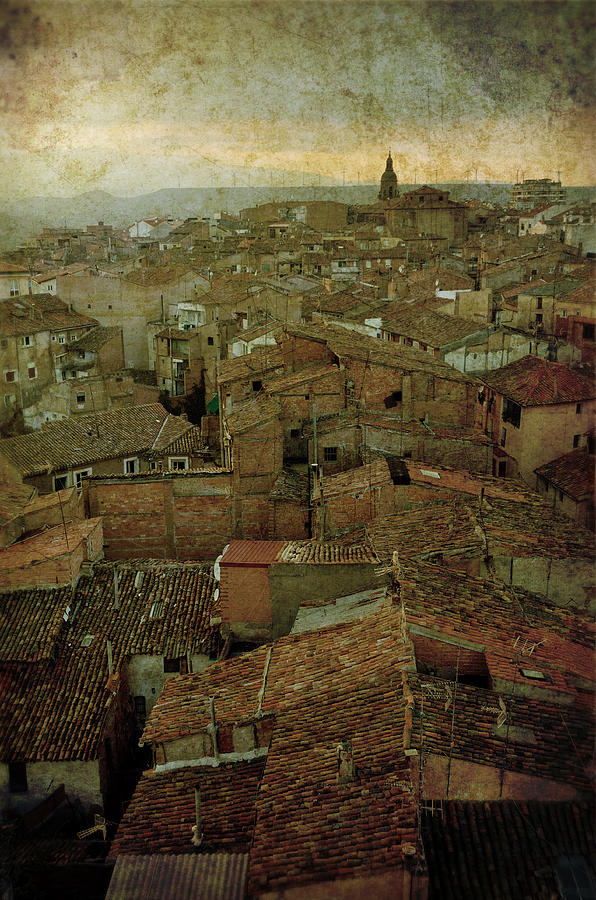 Calahorra Roofs From The Bell Tower Of Saint Andrew Church Photograph  - Calahorra Roofs From The Bell Tower Of Saint Andrew Church Fine Art Print