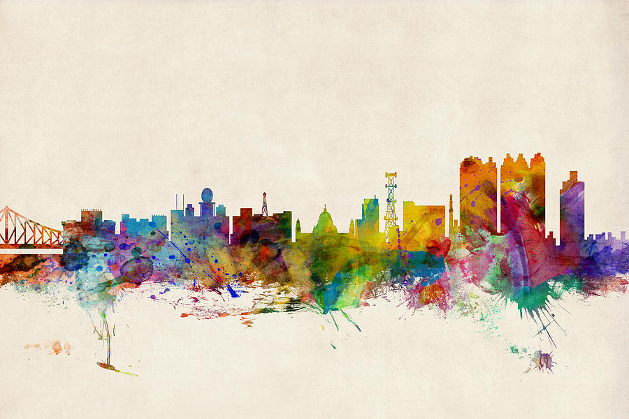 Calcutta India Skyline Digital Art