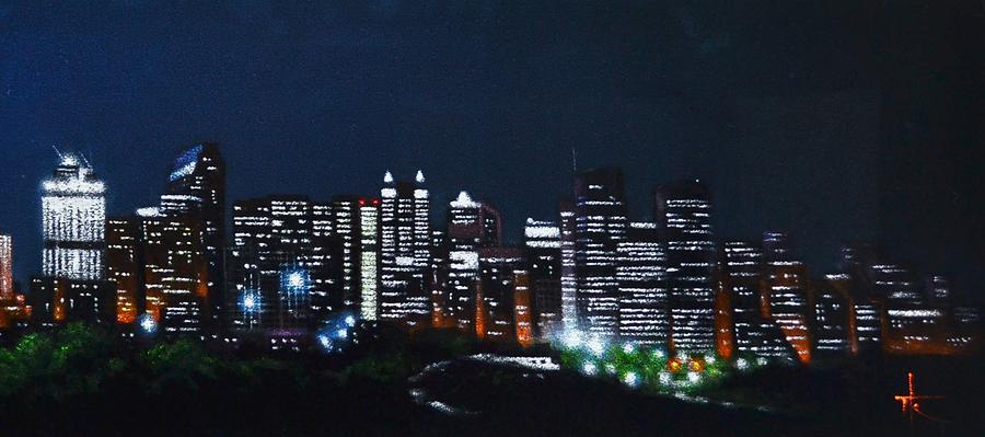 Calgary Canada No Moon Painting