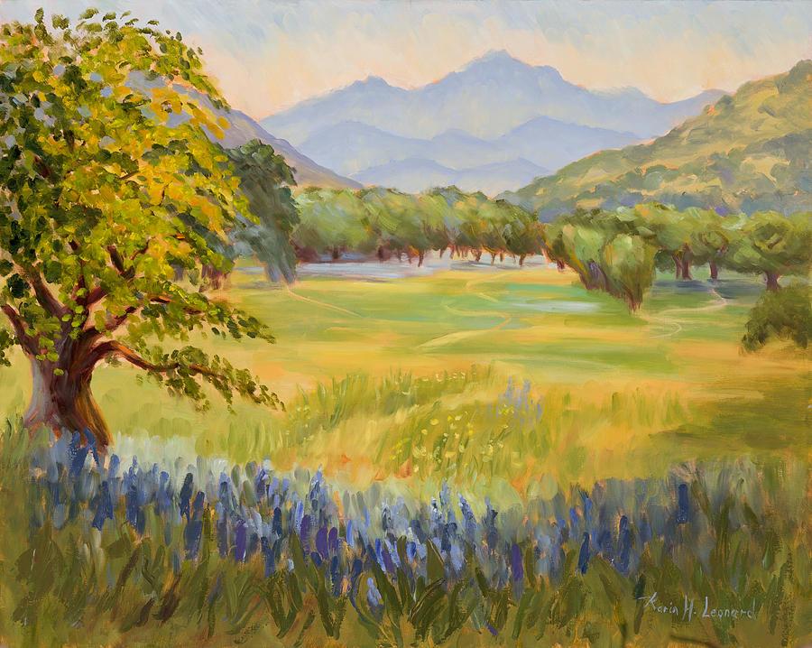 California Impressionist Painting Painting - California Glow by Karin  Leonard