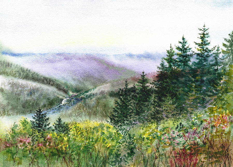 California Landscapes View Of The Redwood Creek National Park Painting