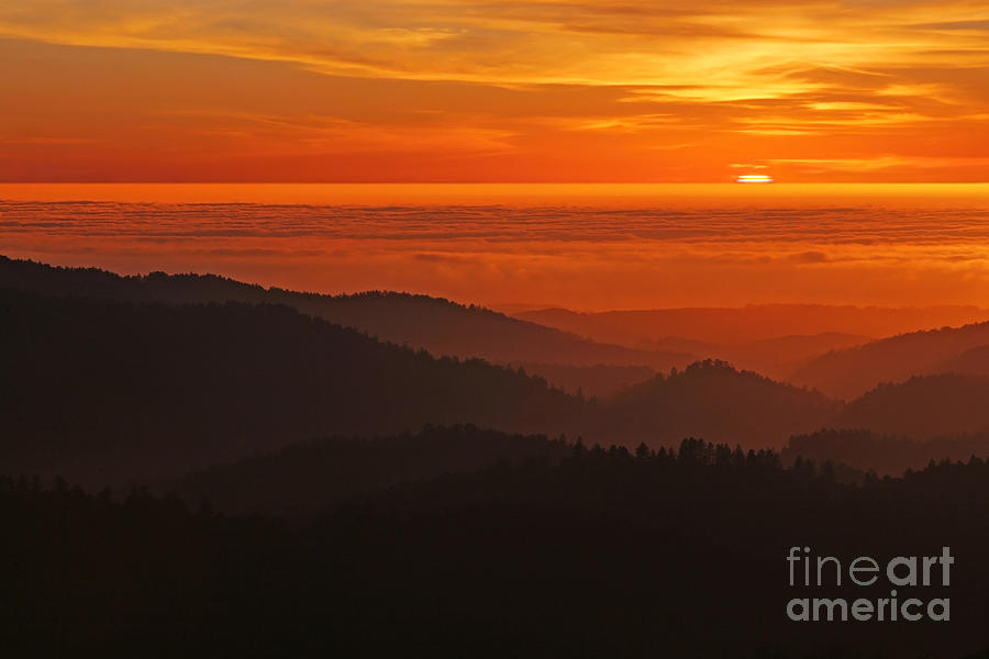 California Mountain Sunset Photograph