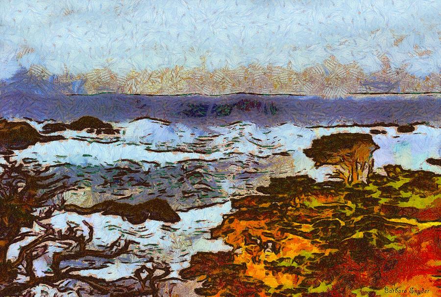 California Seascape Digital Art