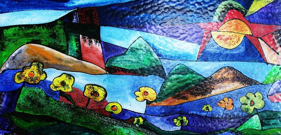 California Vine Country  Glass Art