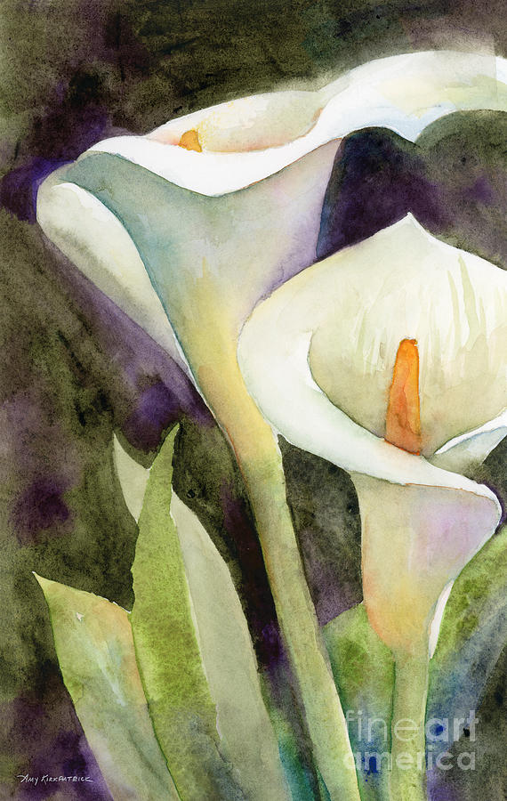 Calla Lilies Painting by Amy Kirkpatrick