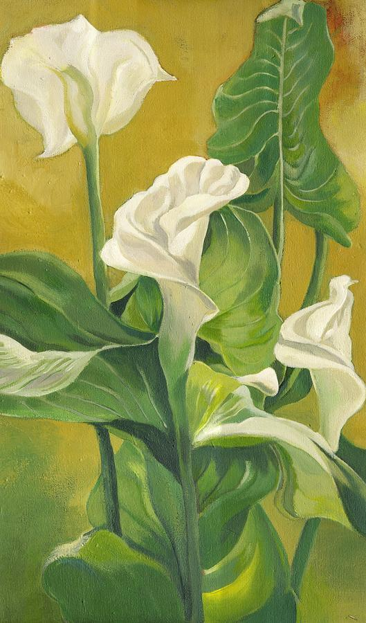 Calla Lilies Painting Painting by Alfred Ng