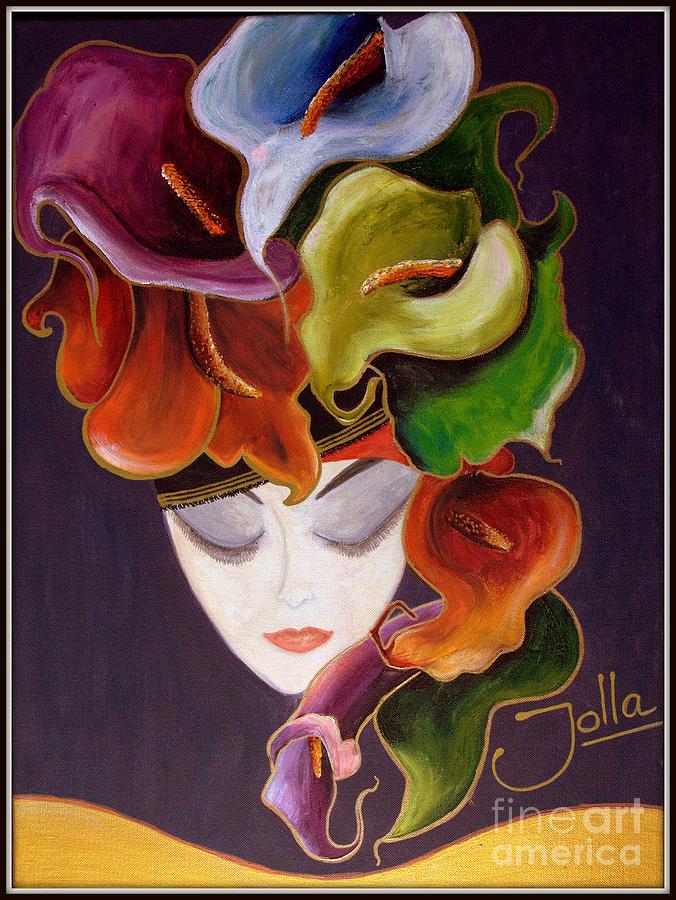 Calla Lily Dame.. Painting by Jolanta Anna Karolska