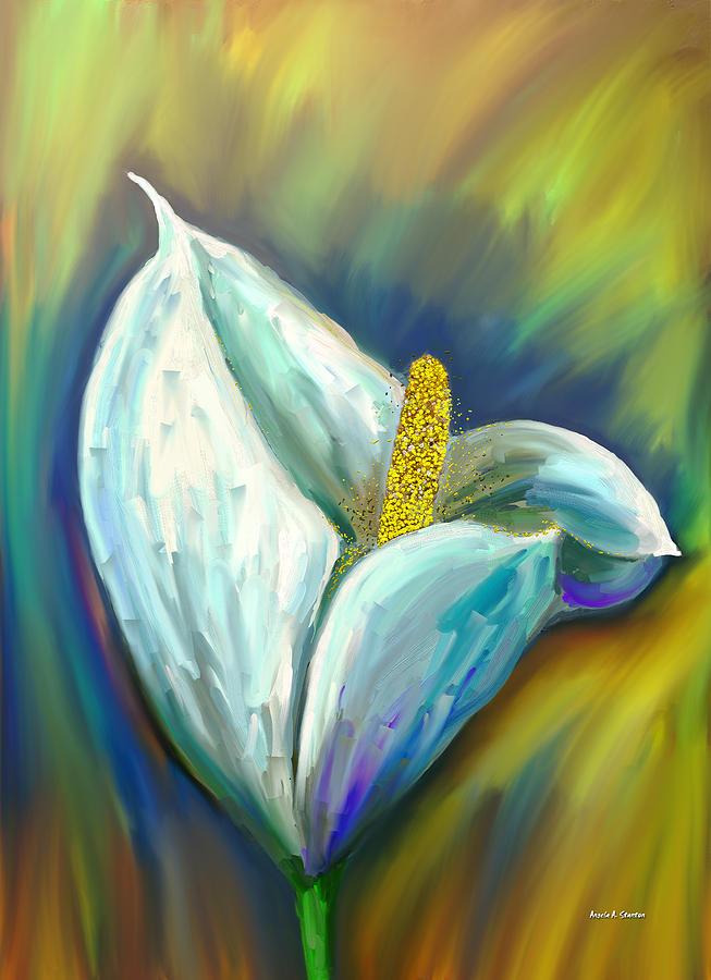 Calla Lily In The Morning Light Painting  - Calla Lily In The Morning Light Fine Art Print