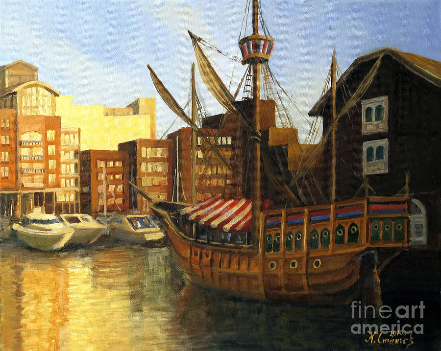 Calm Harbor Painting  - Calm Harbor Fine Art Print