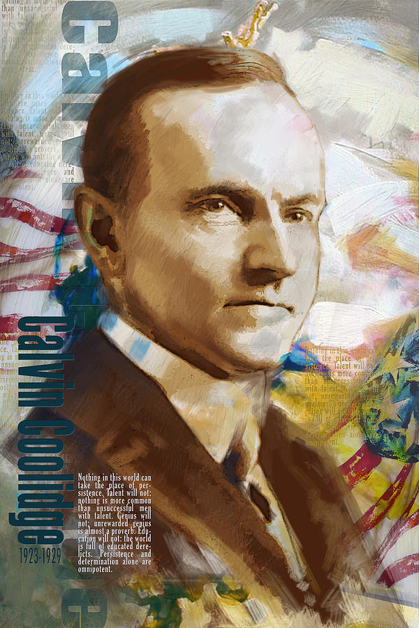 Calvin Coolidge Painting