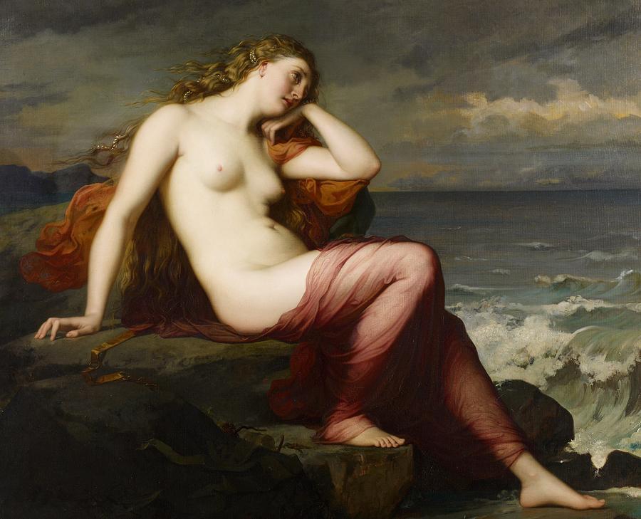 Nude Painting - Calypso by Karl Ernest Rudolf Heinrich Salem
