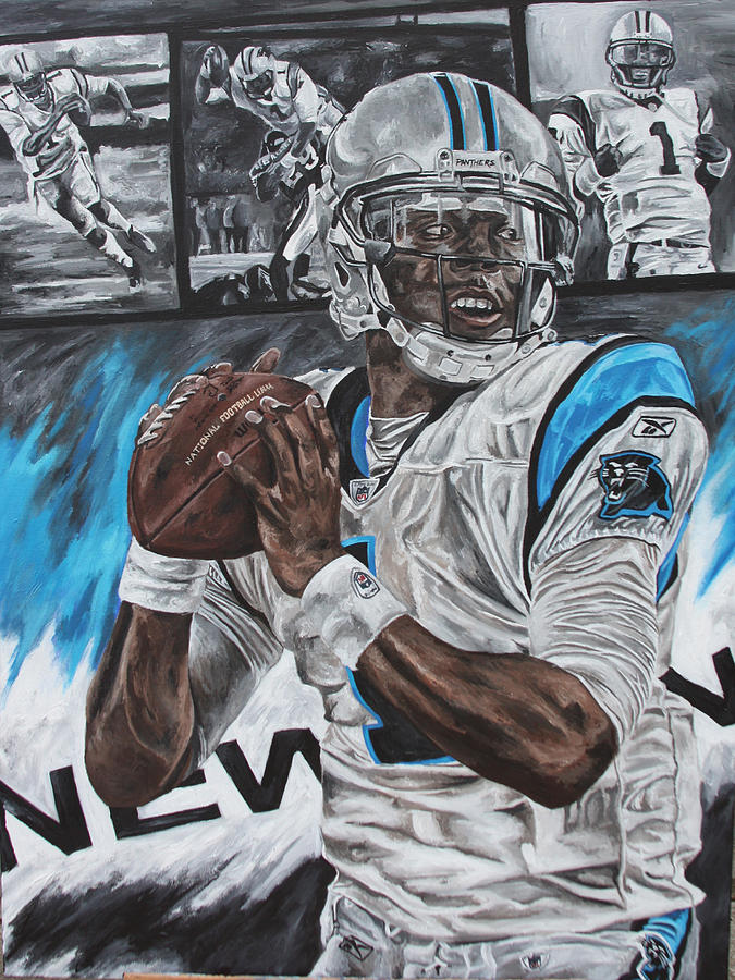 Cam Newton Painting - Cam Newton by David Courson