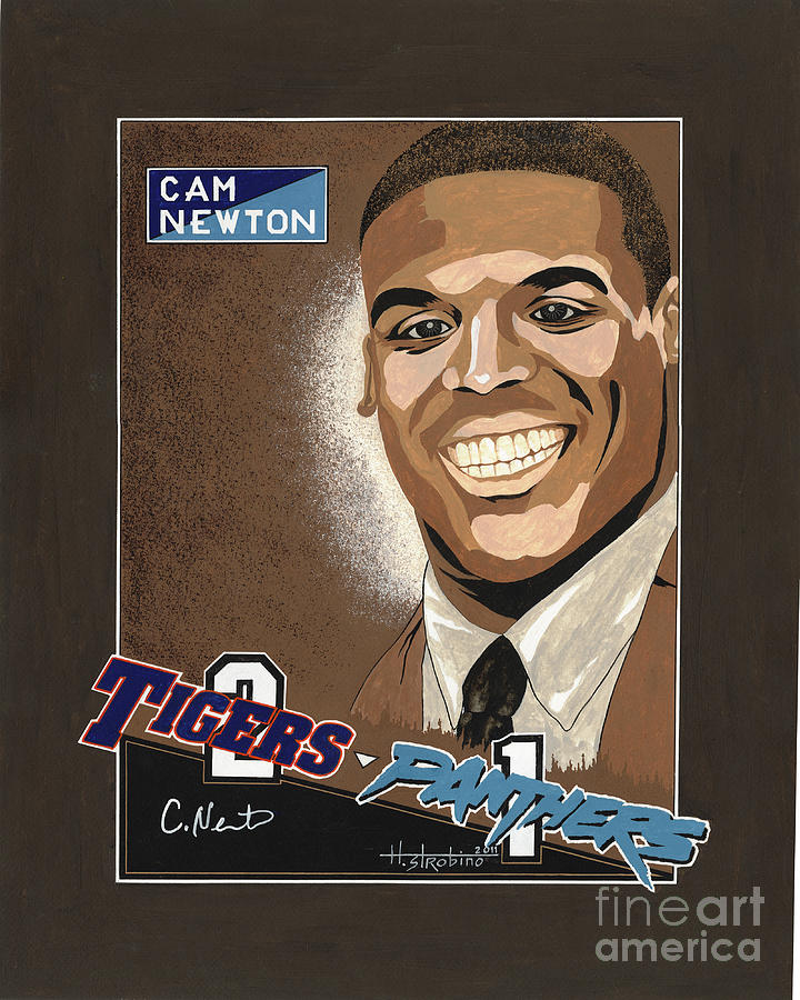 Cam Newton Portrait Painting