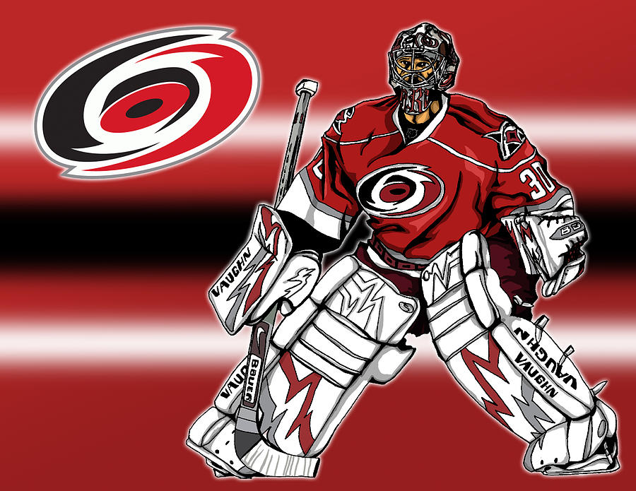 Cam Ward - Carolina Hurricanes Digital Art