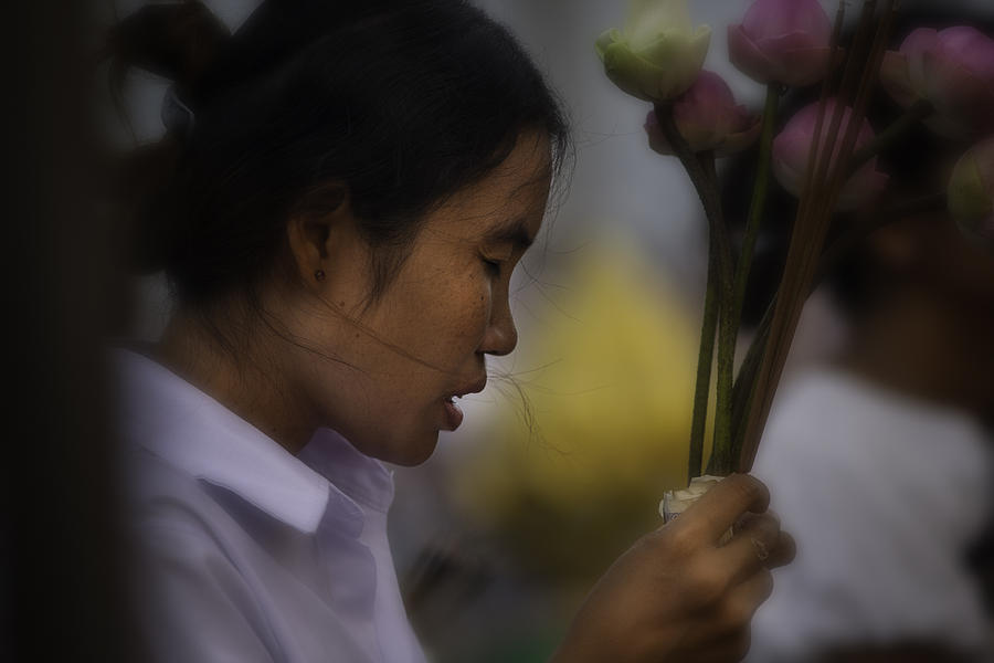 Cambodian Prayers Photograph