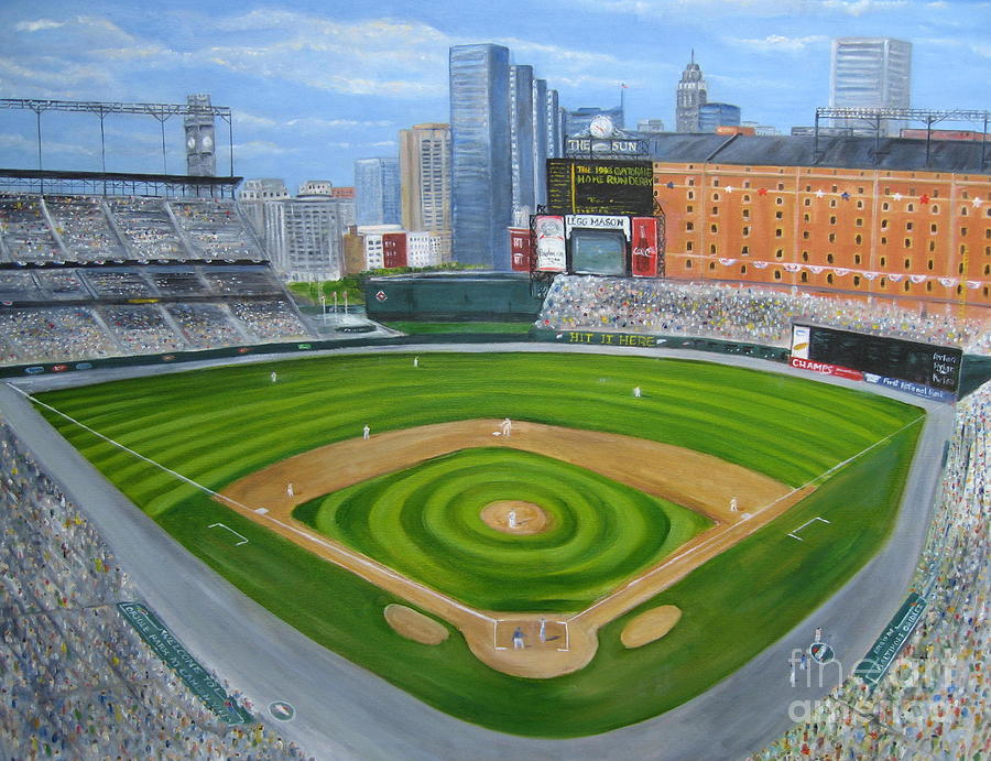 Camden Yards Painting  - Camden Yards Fine Art Print