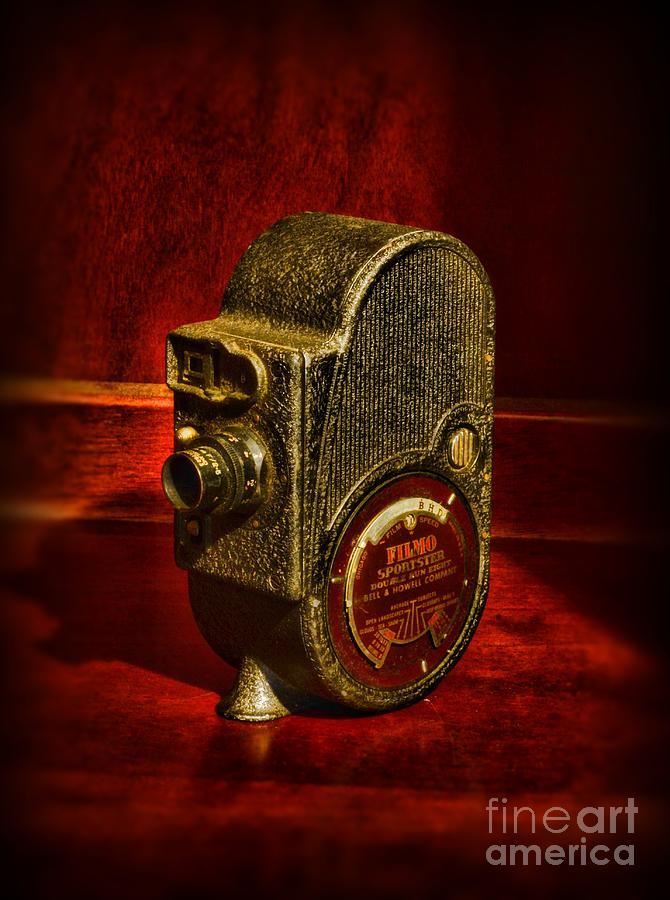 Camera - Bell And Howell Film Camera Photograph  - Camera - Bell And Howell Film Camera Fine Art Print