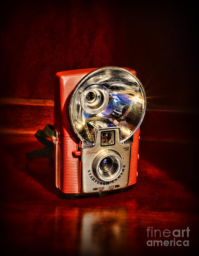 Camera - Vintage Brownie Starflash Photograph  - Camera - Vintage Brownie Starflash Fine Art Print