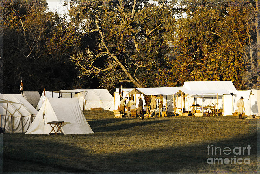 Camp In The Early Morning Light Photograph  - Camp In The Early Morning Light Fine Art Print