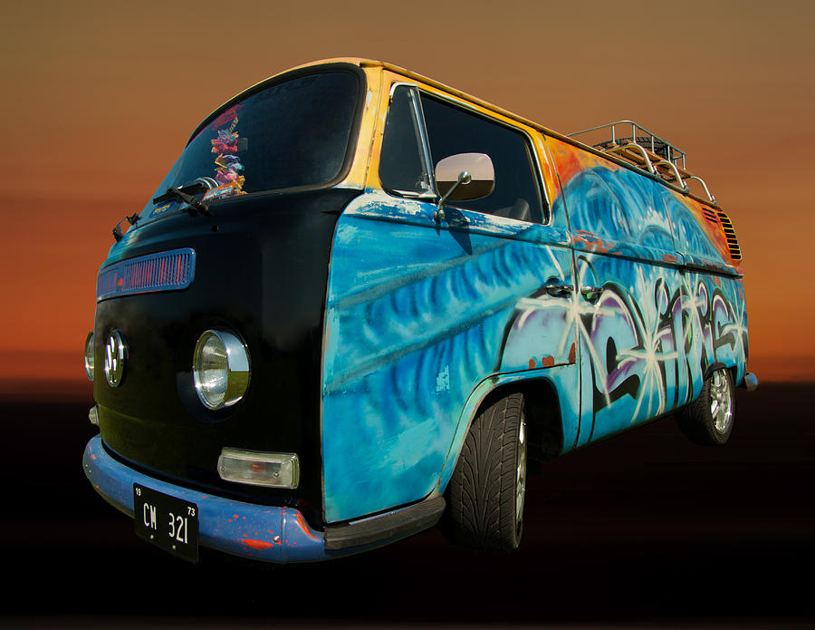 Camper Van Photograph - Camper Van Paint Job by Pete Hemington