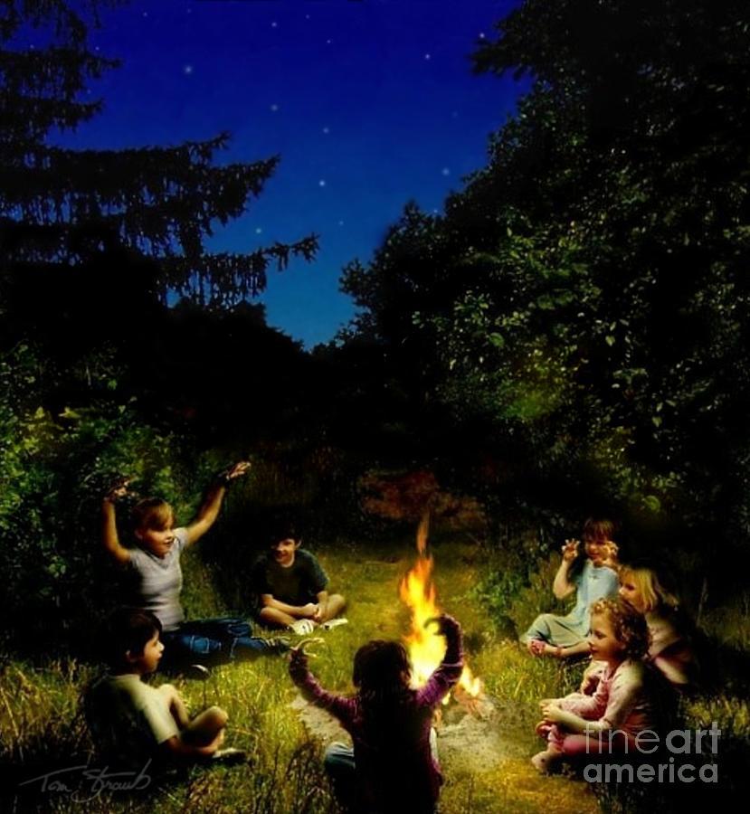 Spooky Photograph - Campfire Story by Tom Straub