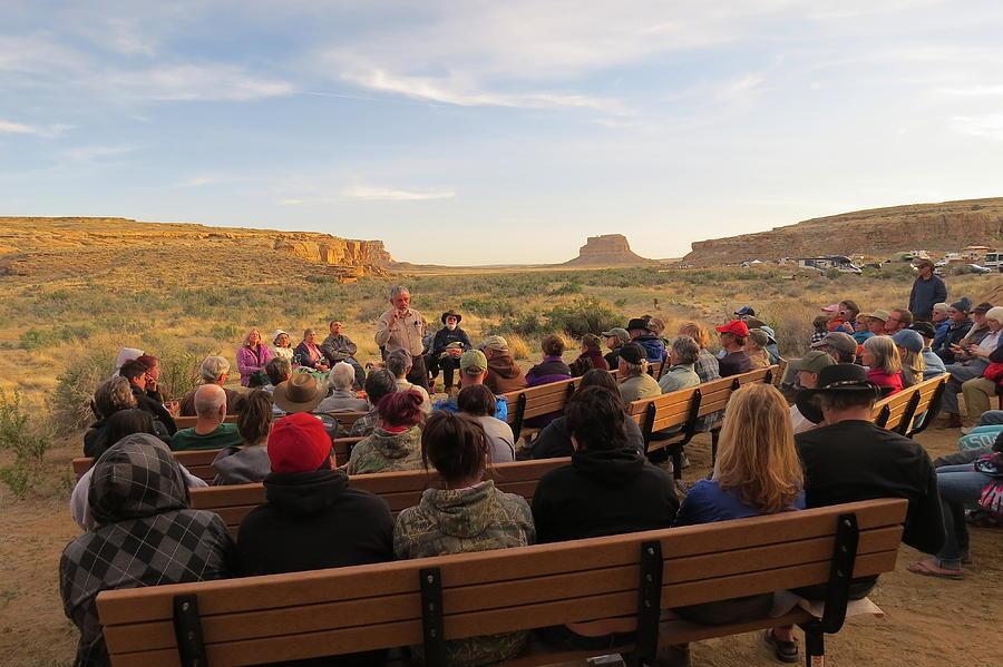 Campfire Talk At Chaco Canyon Photograph