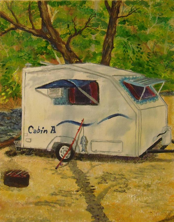 Campground Home Painting  - Campground Home Fine Art Print