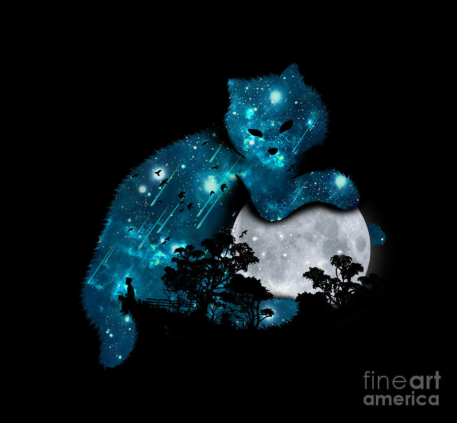 Can I Haz The Moon Digital Art