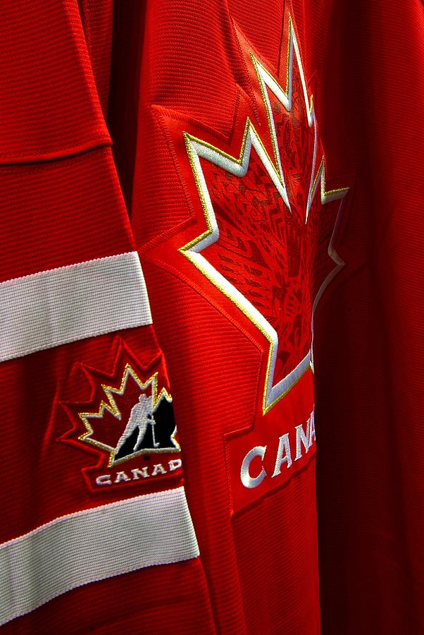 Canada Photograph - Canada Hockey Jersey by Paul Wash