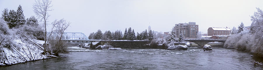 Canada Island And Spokane River Photograph