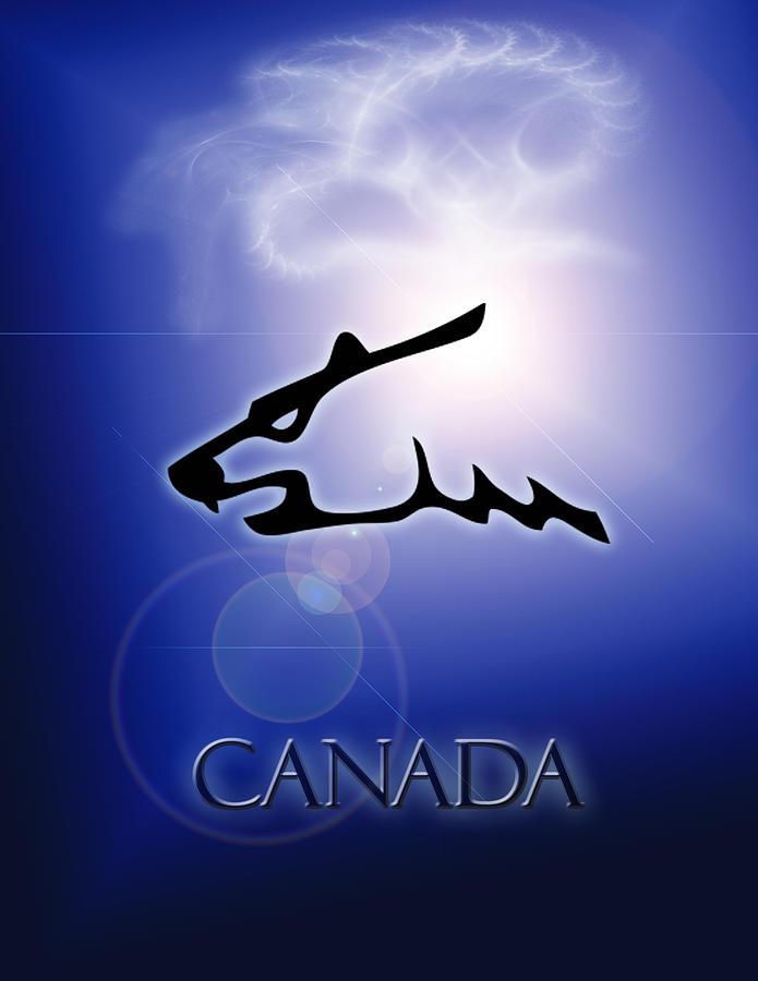 Canada Polar Bear Painting