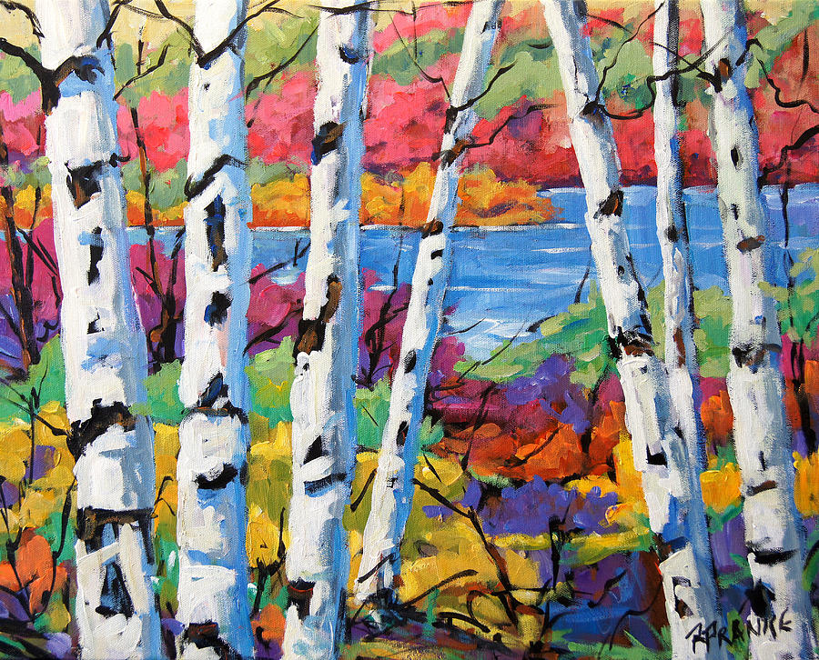 Canadian Birches By Prankearts Painting