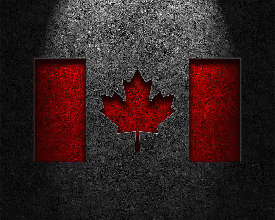 Canadian Flag Stone Texture Digital Art
