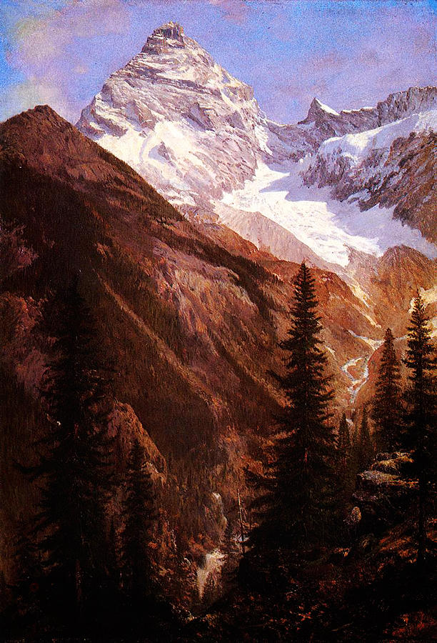 Canadian Rockies Asulkan Glacier Painting