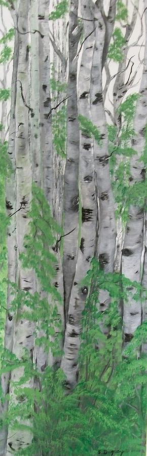Canadian White  Poplar Painting  - Canadian White  Poplar Fine Art Print