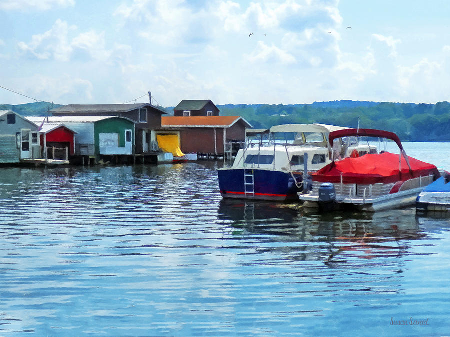 Canandaigua Fishing Shacks Photograph